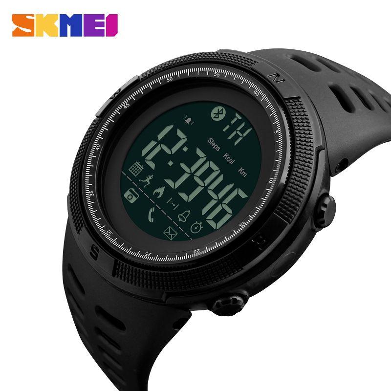 SKMEI Brand New Men's Smart Sport Watch Bluetooth Calorie <font><b>Pedometer</b></font> Fashion Watches Men 50M Waterproof Digital Clock Wristwatch