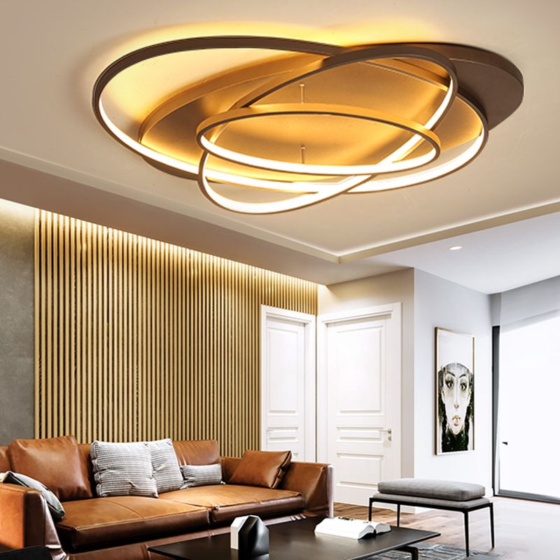 Neue Kreative Ringe Moderne Led-deckenleuchte Für Wohnzimmer Schlafzimmer 48 watt/70 watt/85 watt Hause indoor Led-deckenleuchte AC90V-260V