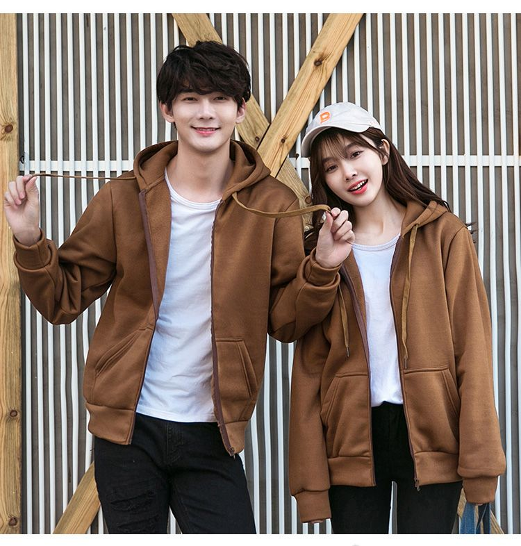 hooded sweater men's spring and autumn new couples installed young Korean version of the long-sleeved cardigan