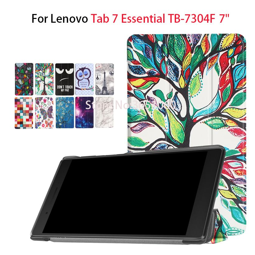 Case For Lenovo tab 7 Essential TB-7304F/I/X Tab7 Essential 7304F 7304I 7304 Cover Funda Tablet Stand Protective Cover Flip Case