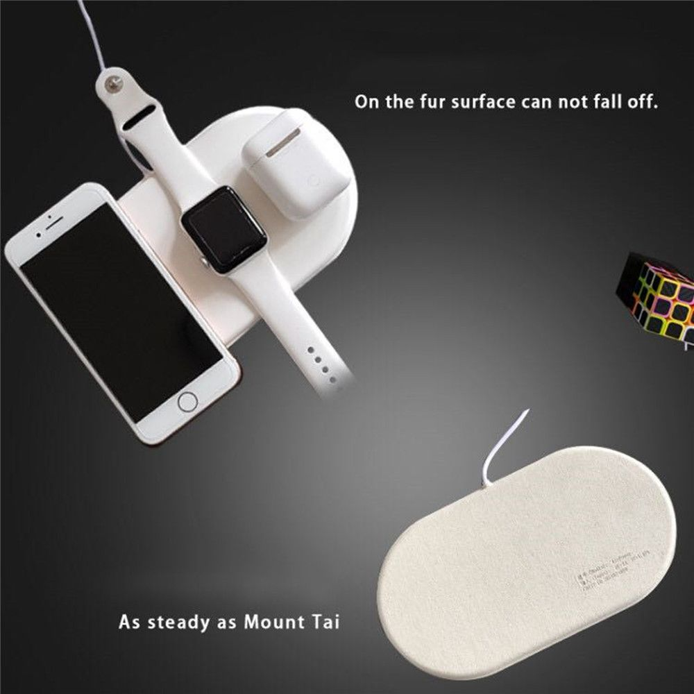3 in 1 Qi Wireless Charger Pad For iPhone X For iWatch Fast Wireless Charging Pads For Airpods Universal Mobile Phone Chargers