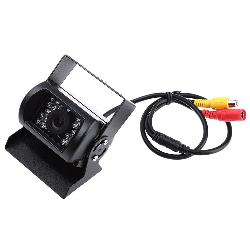 12V Car Rear View Camera Backup Reverse Parking Rearview Camera 18 LED Night Vision 150 Degree Wide Angle Waterproof for Truck