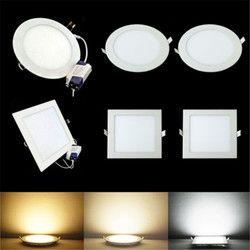 Led downlight empotrado cocina baño lámpara 85-265 V 25 W redondo/cuadrado LED Techo Luz del panel caliente /natural/blanco frío envío gratis