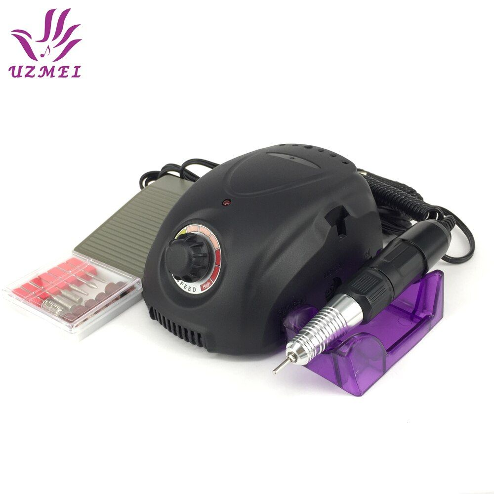 35W Black Professional Electric Nail Art Drill Machine Nail Equipment Manicure Pedicure kit Files Electric Manicure Drill file