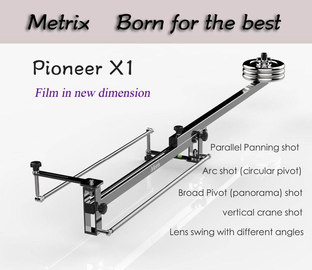 METRIX X1 Professional Portable DV Aluminum slider focus panorama shooting Mini Jib Video camera Crane DSLR Jibs with Bag