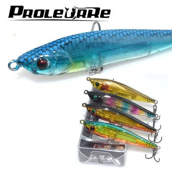 Proleurre 1Pcs 6.5CM 10G Sinking Minnow Fishing Lures Japan Pencil Wobbler Model Hard Baits Good Laser Snake Head Fish Lure