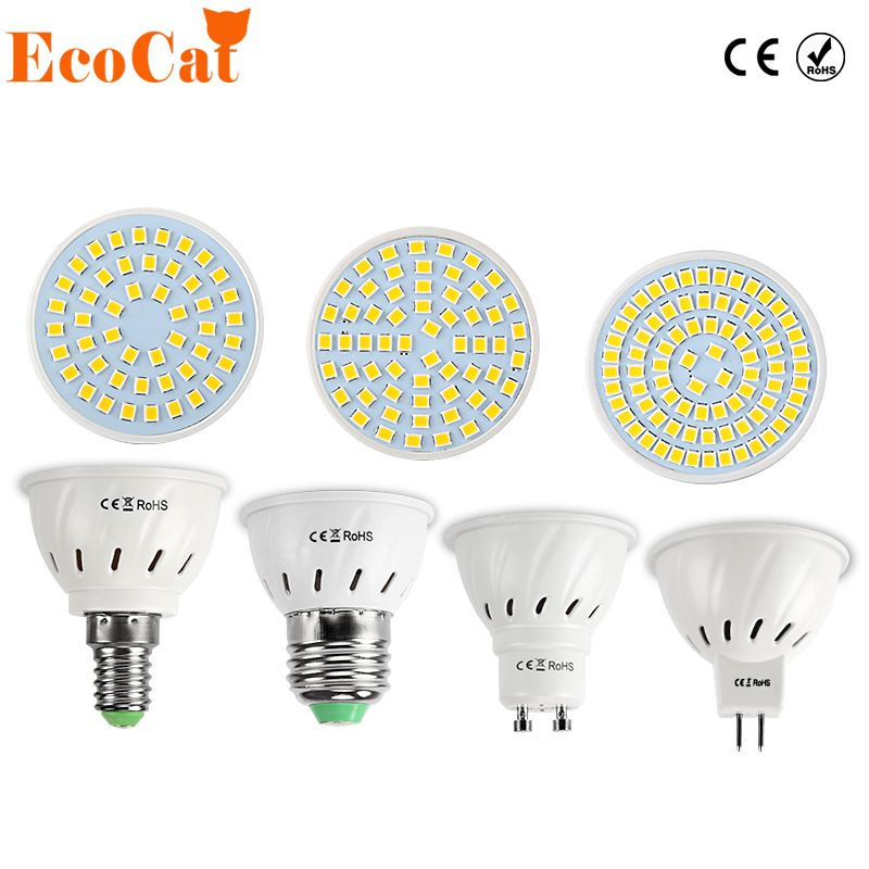 LED Lamp E27 220V 5730 5050 SMD 2835 Ampoule LED Spotlight GU10 Bombillas LED Bulb E27 MR16 Spot light Candle Luz MR16 Lampada