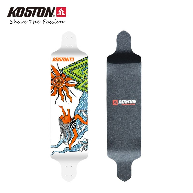 KOSTON Professionelle Downhill Longboard Deck Hochwertigen Dropdown Lange Skateboard Deck Schiff Stil 9 Schichten Kanadischer Ahorn LD009