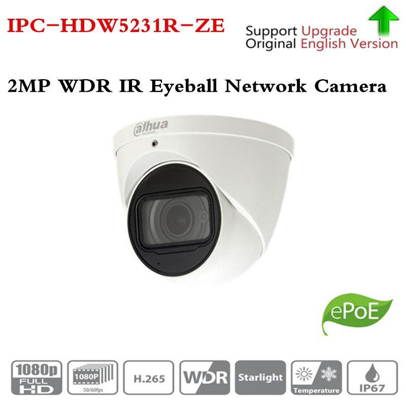 Original ahua Starlight 2.7mm ~13.5mm motorized lens 2MP WDR IR Eyeball Network Camera IPC-HDW5231R-Z upgrade IPC-HDW5231R-ZE
