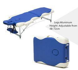 Profesional Portabel Lipat Tempat Tidur Pijat dengan Carring Tas Perabot Salon Tempat Tidur Kayu Lipat Beauty SPA Pijat Meja Tempat Tidur