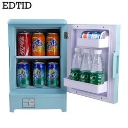 EDTID 2 in 1 Mini Car Refrigerator Multifunction Used in Car and Home High-quality,15L 48w convinent Energy-saving