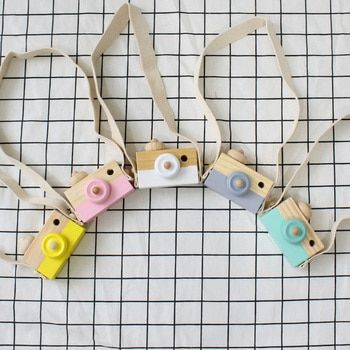 Nordic Cute Wooden Camera Toy For Children Baby Room Decoration Ornament Early Education Teaching Aids Photography Prop 9x6x3cm