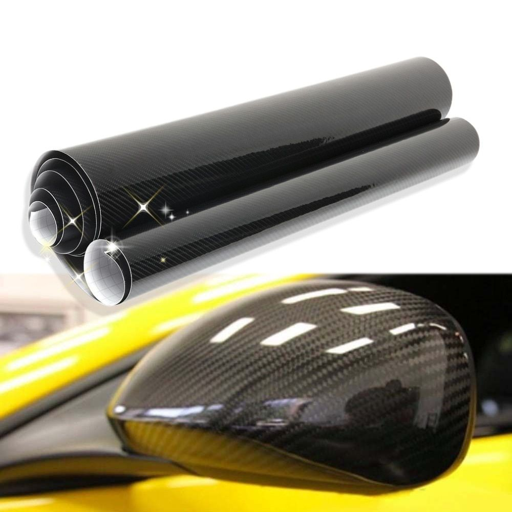 30/60*152cm Black 5D Carbon Fiber Vinyl Film Car Wrap Film Car Sticker Auto Exterior Accessories Film