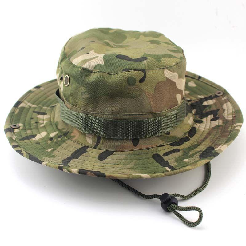 Chapeaux de seau en plein air hommes Jungle militaire Camouflage Bob Camo Bonnie chapeau Camping Barbecue coton escalade casquettes de pêche