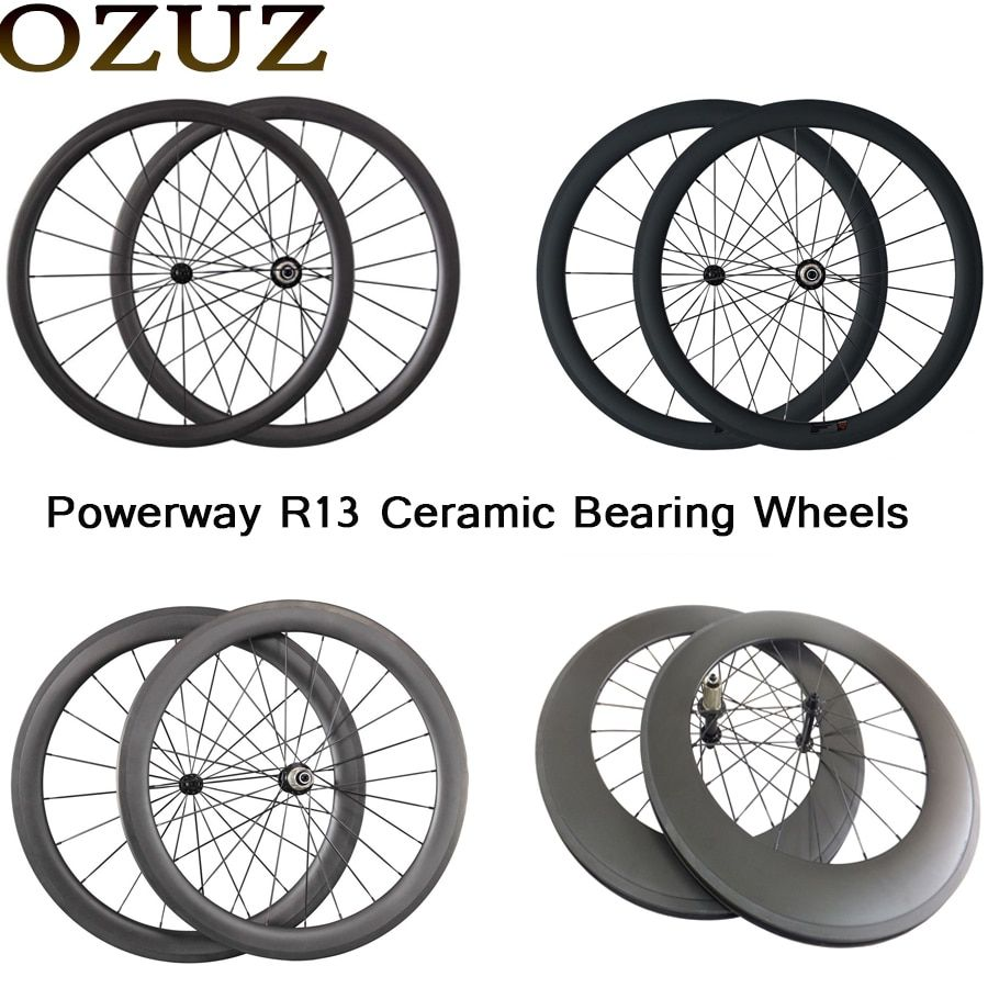 OZUZ ceramic bearing 24mm 38mm 50mm 88mm carbon road bike wheelset 23mm wide 3k matte clincher tubular China 700c bicycle wheels