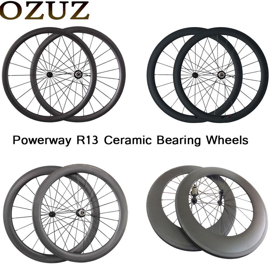 OZUZ keramik lager 24mm 38mm 50mm 88mm carbon rennrad laufradsatz 23mm breite 3 karat matte klammer tubular China 700c fahrrad räder