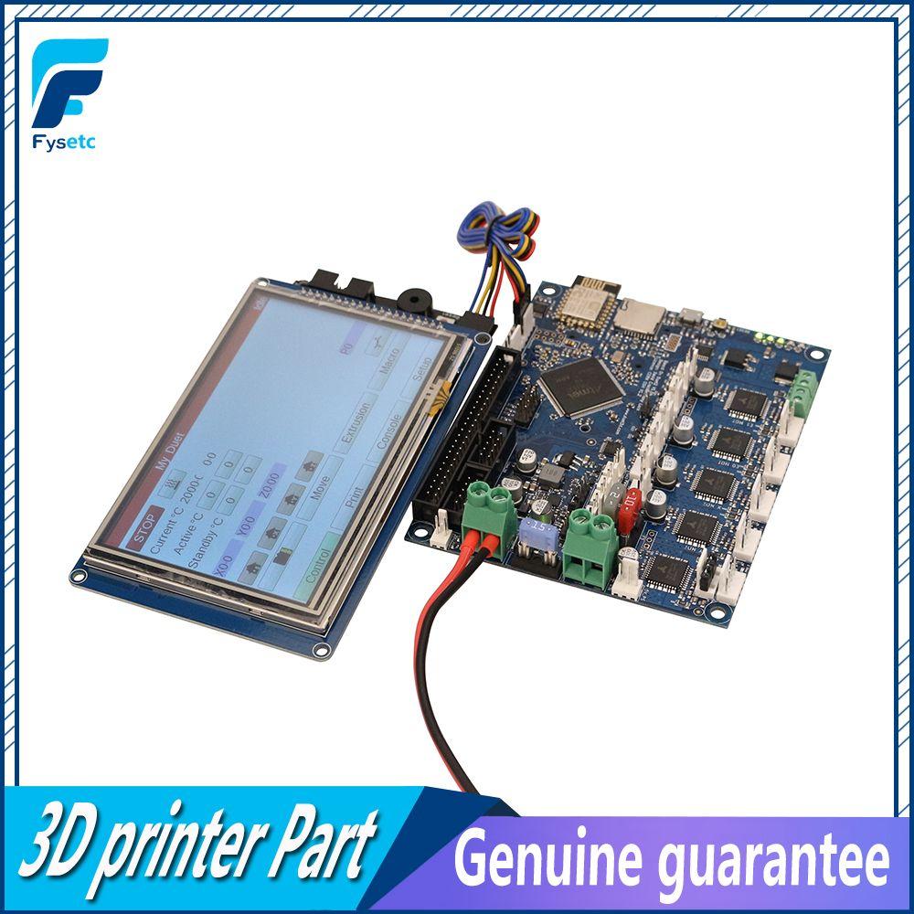 Neueste Duet 2 Wifi V1.04 Geklont DuetWifi Erweiterte 32 Bit Elektronik Mit 4,3 5 7 PanelDue Touch bildschirm Für BLV MGN Cube