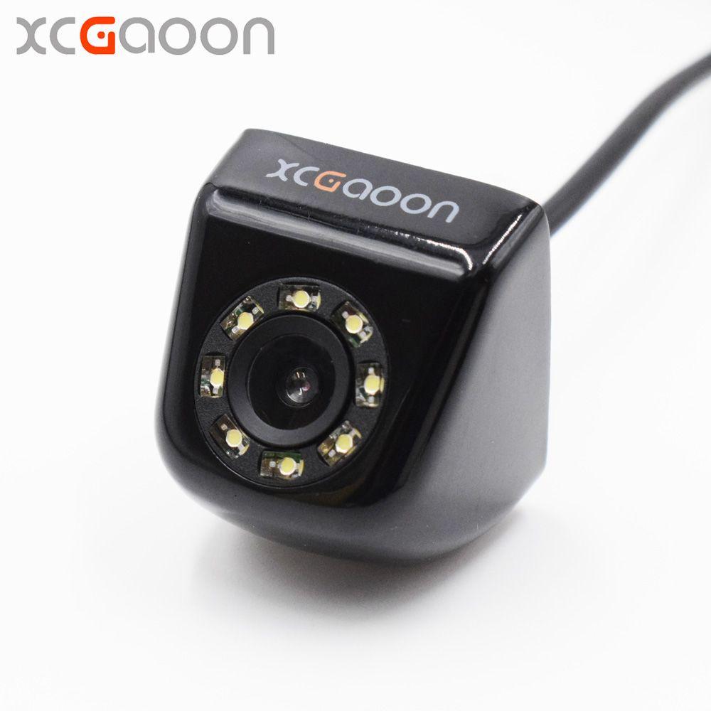 XCGaoon CCD caméra de recul de voiture réel étanche (IP67) grand Angle 8 LED lumières Vision nocturne aide à l'inversion de stationnement