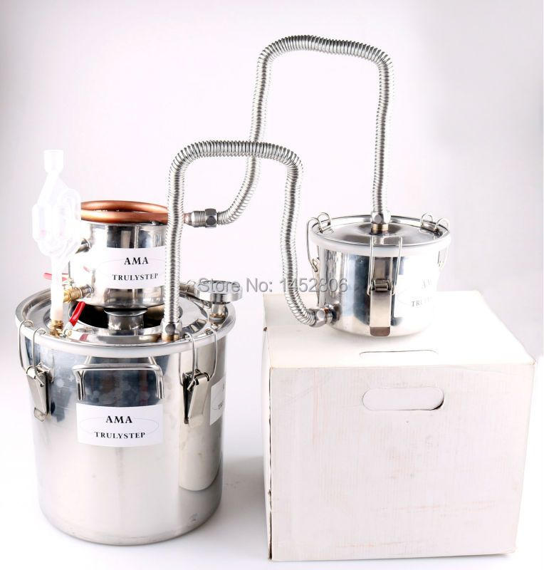 10L~100 Litres DIY 3 Pots New Home Alcohol Moonshine Still Spirits Stainless Copper Distiller Water Wine Essential Oil Brew Kit