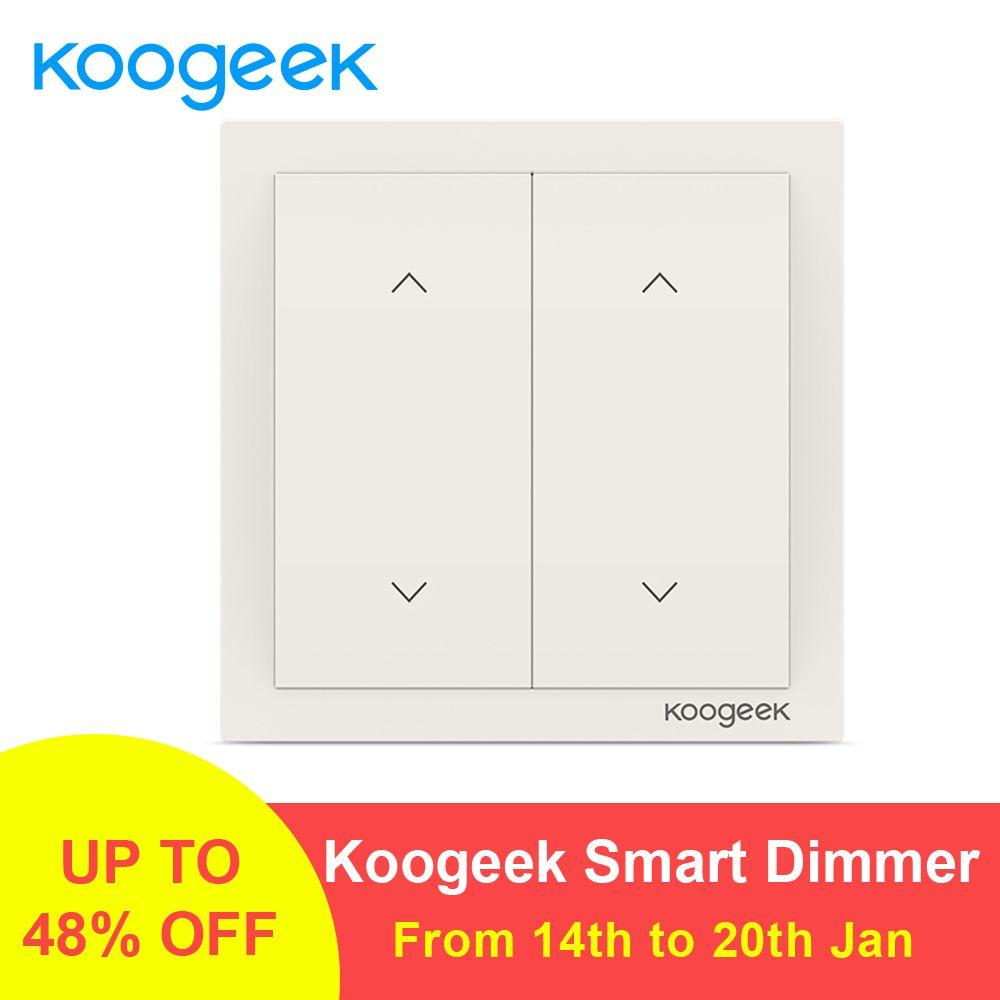 Koogeek 2 Gang WiFi Light Switch Wireless Siri Remote Control Light Switches Smart Home for Apple HomeKit Alexa Google Assistant