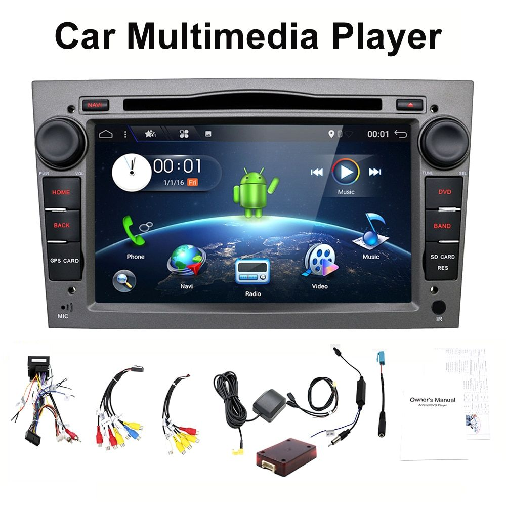 HD 1024*600 Quad Core Android 7.1 Car tape recorder GPS DVD Player For Opel Astra H Vectra Corsa Zafira B C G support OBD2