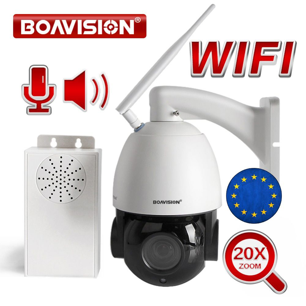 20X Optical Zoom 1080P Wireless PTZ Dome IP Camera WIFI Outdoor CCTV Security Video Camera Audio Talk Speaker 80m Night Vision
