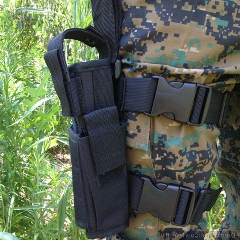 Adjustabl Tactical Pistol Bein Oberschenkel Holster w/Mag Pouch Rechte Hand Outdoor Tactical Pouch mit Einstellbare Magic Strap