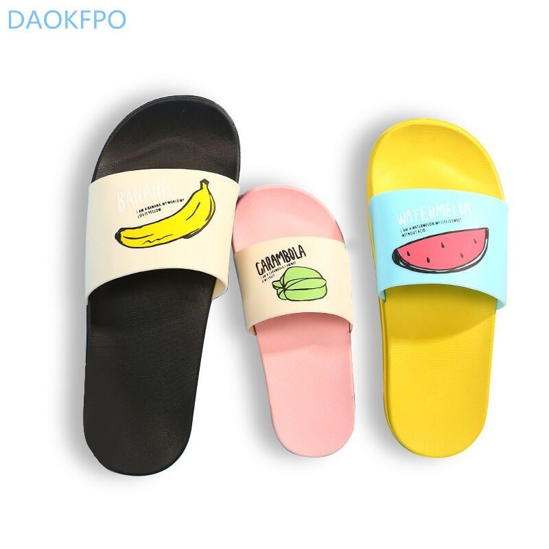 2018 New Women Slippers Fashion Summer lovely Ladies Casual Slip On Fruit jelly Beach Flip Flops Slides Woman <font><b>Skid</b></font> Indoor Shoes