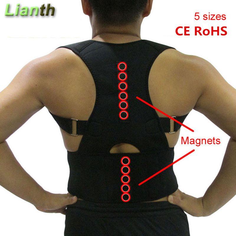 CE RoHS correcteur de Posture de thérapie magnétique pour hommes et femmes étudiant soulagement de la douleur au dos bretelles réglables soutien des épaules T174K03