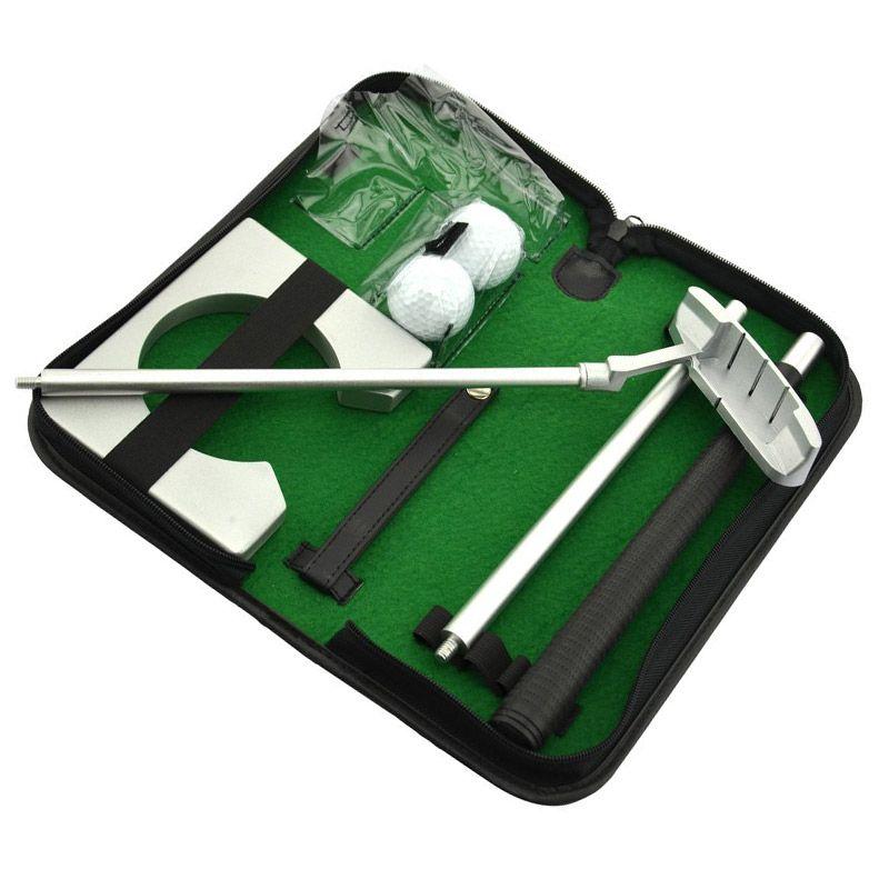 Portable Golf Putter Practicee Set Reise Indoor Golfplätze Ball Halter Putting Trainingshilfen Werkzeug Mit Tragetasche Geschenke B2Cs