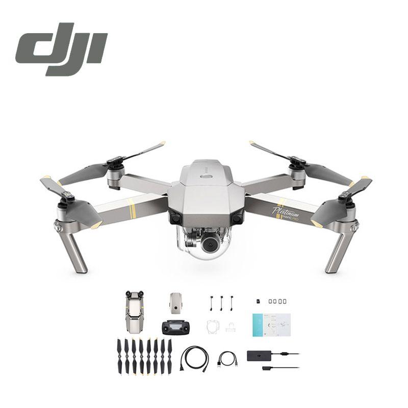 DJI Mavic Pro Platinum Camera Drone 30 Minutes Flight Time 1080P with 4K Video RC Helicopter FPV Quadcopter DJI Original