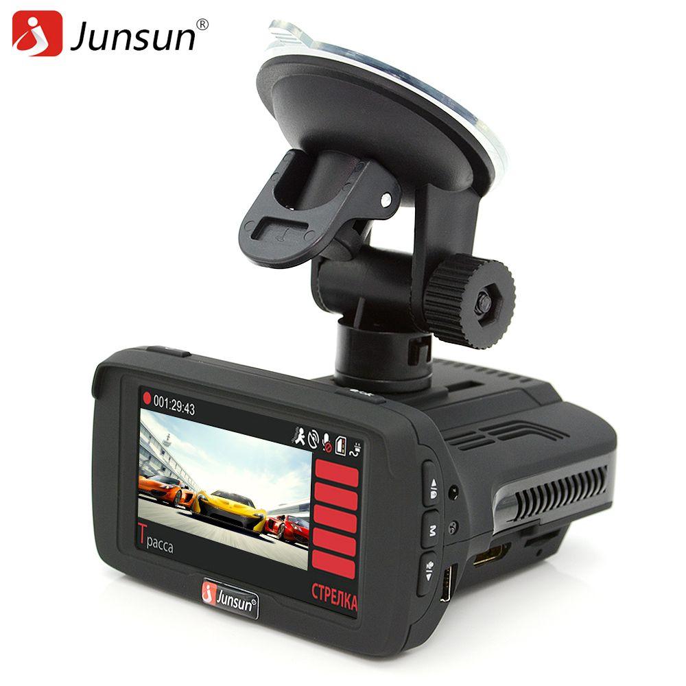 Junsun Car DVR Camera Registrar Radar detector GPS for Russian Ambarella anti radar Speedcam FHD 1080P Video Recorder Dash Cam