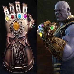 Avengers Infinity War Thanos 1:1 Infinity Gauntlet PVC Gloves Costume For Halloween Party Movie Cosplay Accessories Gift Props