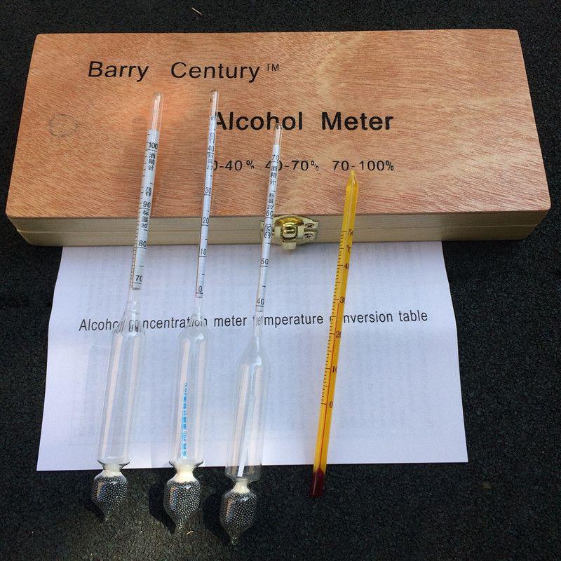 Hydromètre à vin compteur d'alcool alcoomètre bafometro alcoomètre hydromètre pour alcotesteur d'alcool testeur avec thermomètre