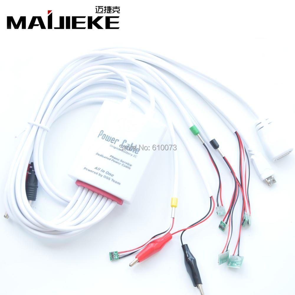 MAIJIEKE All in 1 Professional Current Test Dedicated Power Cable for iPhone 7 6 6s Plus 5s 5 5c 5SE 4s 4 Battery Charging Wire