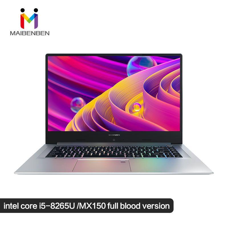 MaiBenBen XiaoMai 6S-2 für Gaming Laptop Intel i5-8265U + MX150 Grafikkarte/16G RAM/240G + 1 TB/DOS/Silber 15,6