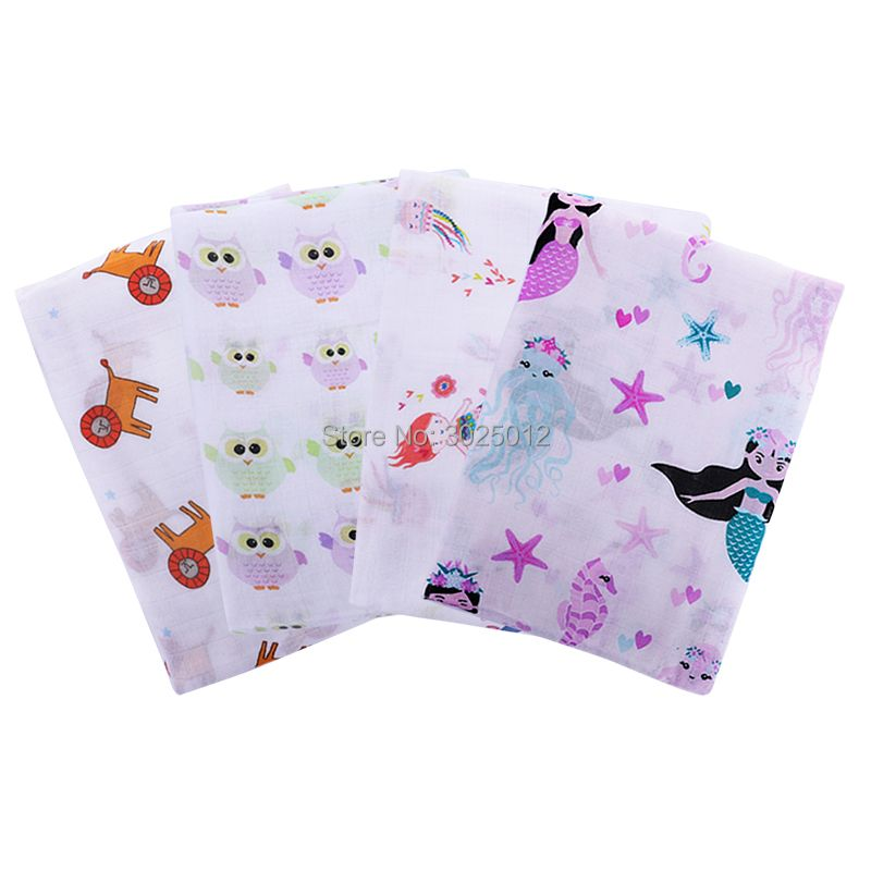 Soft Bamboo Baby Muslin Swaddle Blanket 70% Bamboo 30% Cotton Perfect Baby Shower Gift Receiving Blanket Muslin Baby Swaddle
