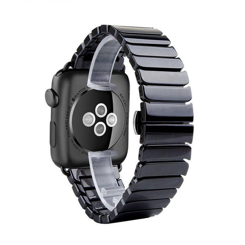 Мода керамические с адаптером ремешок для Apple Watch 42 мм 38 мм ссылка браслет ремешок для iwatch серии 2/ 3 полосы черный, белый цвет