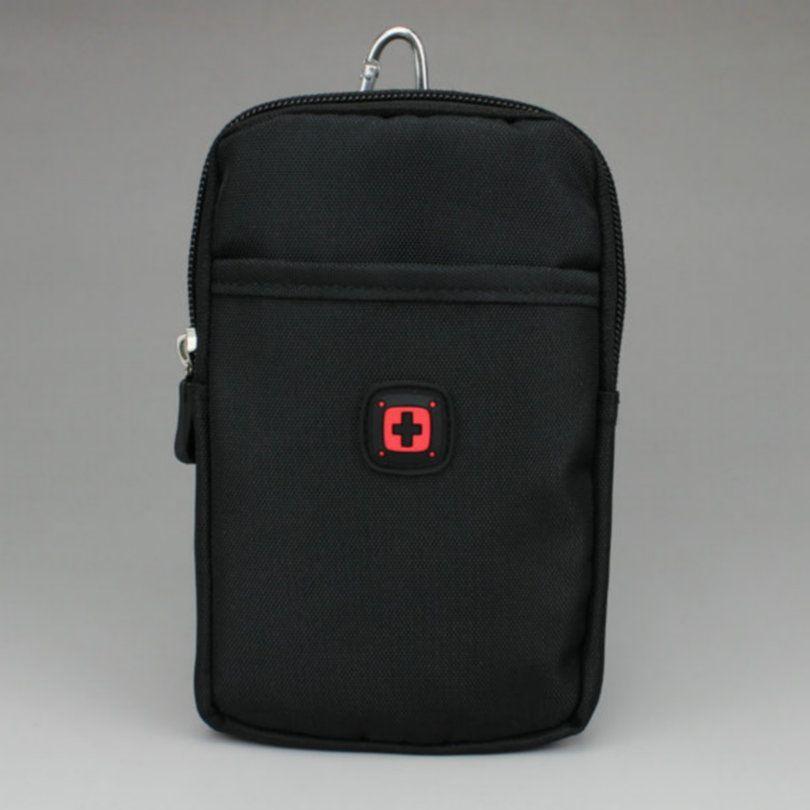 Pochette en Nylon ceinture taille sac poche argent sac pour iPhone 8 Plus 7/6 s 5.5 pouces pour Samsung Galaxy Note 8 s8 +
