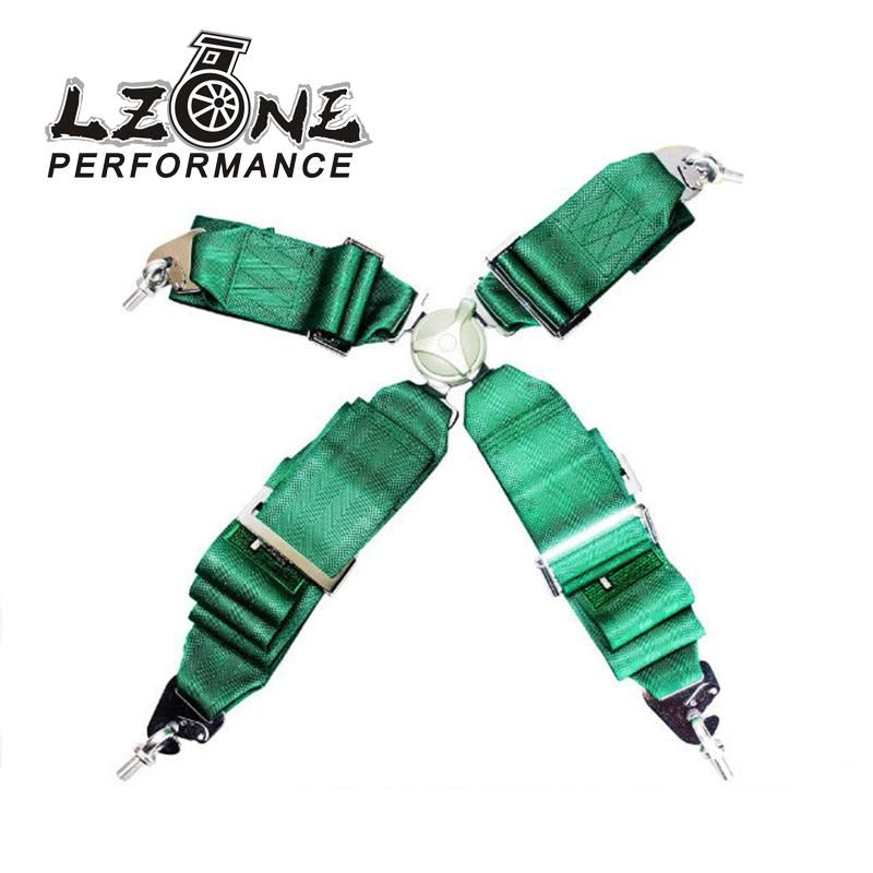 LZONE - KATA Style Seat Belt with 4pcs FIA 2018 Homologation /Harness/Racing Satefy Seat Belt/width:3 inches/4Point JR-SB31