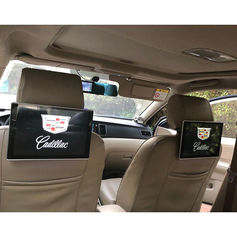 2 PCS Neue Artikel 2018 Elektronik Auto TV Monitor Android 7.1 System Kopfstütze DVD Player Für Cadillac SRX XTS CTS ATS CT6 XT5