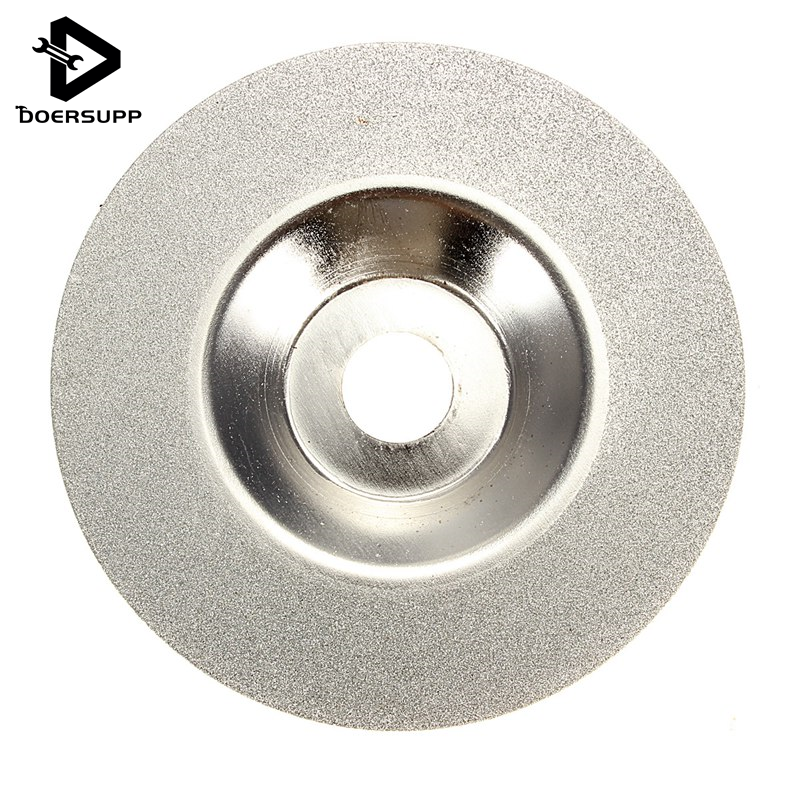 100mm 4 inch Diamond coated Grinding Polishing Grind Disc Saw Blade Rotary Wheel Silver Tone Wholesale Price