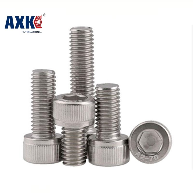 10Pcs/Lot  DIN912  Stainless Steel A4  Marine Grade   M6*30  M6x30  Hex Socket Head Cap Screw SUS316