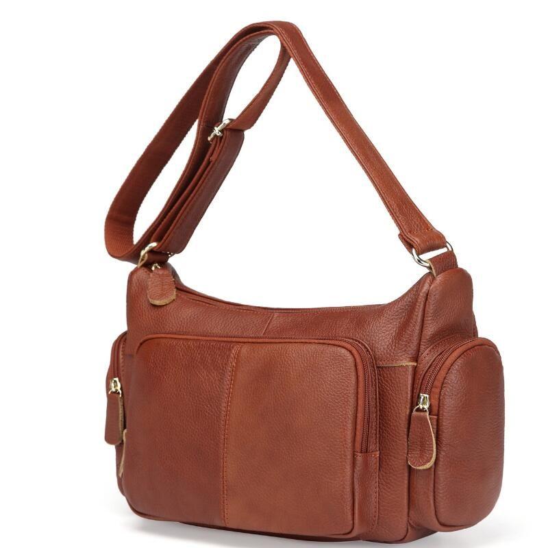 Big Genuine Leather Handbag Women Messenger Bags Vintage Shoulder Bag Large Female Cross-body bags Casual Soft Leather Women Bag