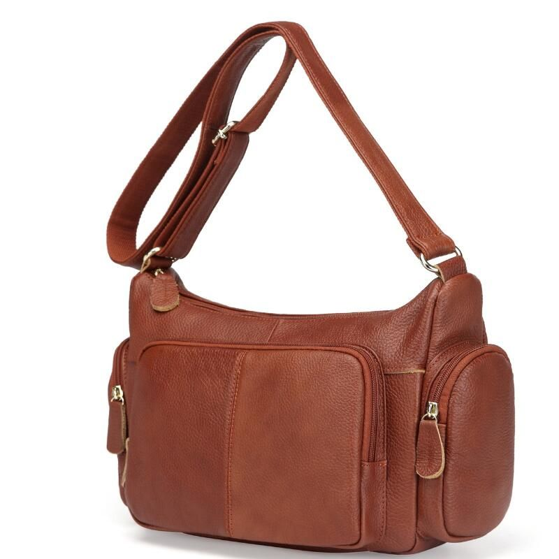 Big Genuine Leather Handbag Women Messenger Bags Vintage Shoulder Bag Large Female Cross-body bags Casual Soft Leather Women Bag