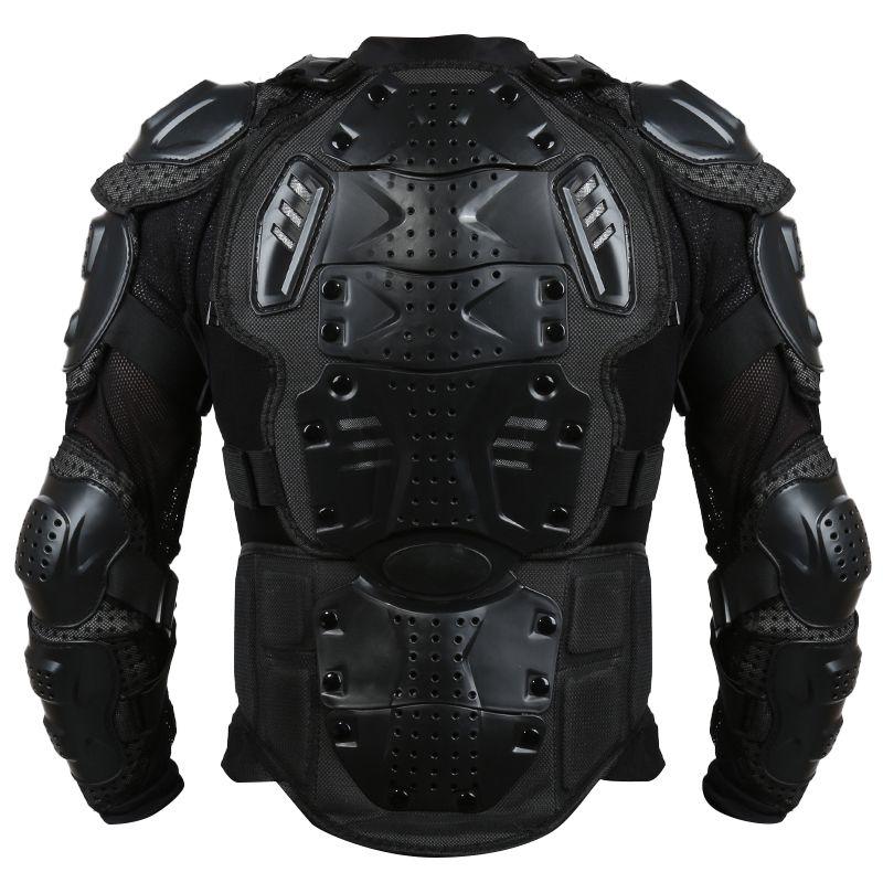 Liplasting Full Motorcycle Body Armor Shirt Jacket Motocross Back Shoulder Protector Gear S-XXXL Black Veste de moto XNC