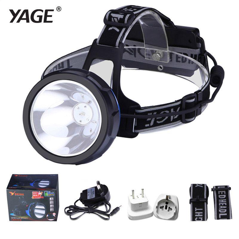 YAGE Rechargeable lampe frontales Projecteur sur Votre Front lampe de Poche Tête Lumière Led Lintern Au Lithium Ion tête lanterne Point Culminant