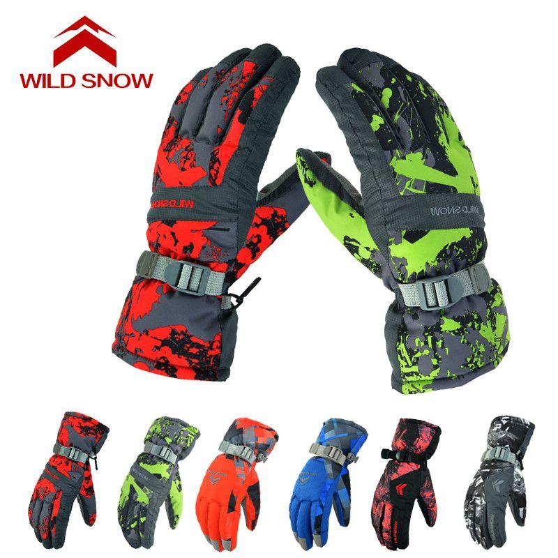 Neuheiten herren Outdoor Sport Ski Handschuhe wandern camping Winter winddicht Warm snow Handschuhe Snowboard skifahren frauen & männer