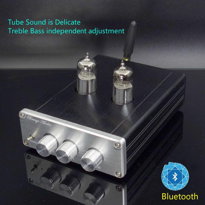 Bluetooth 6J5 Tube Preamplifier Machine Bile Preamp Electronic Valve Tone Enlarge NE5532 Treble Bass Speaker Amplifier DIY New
