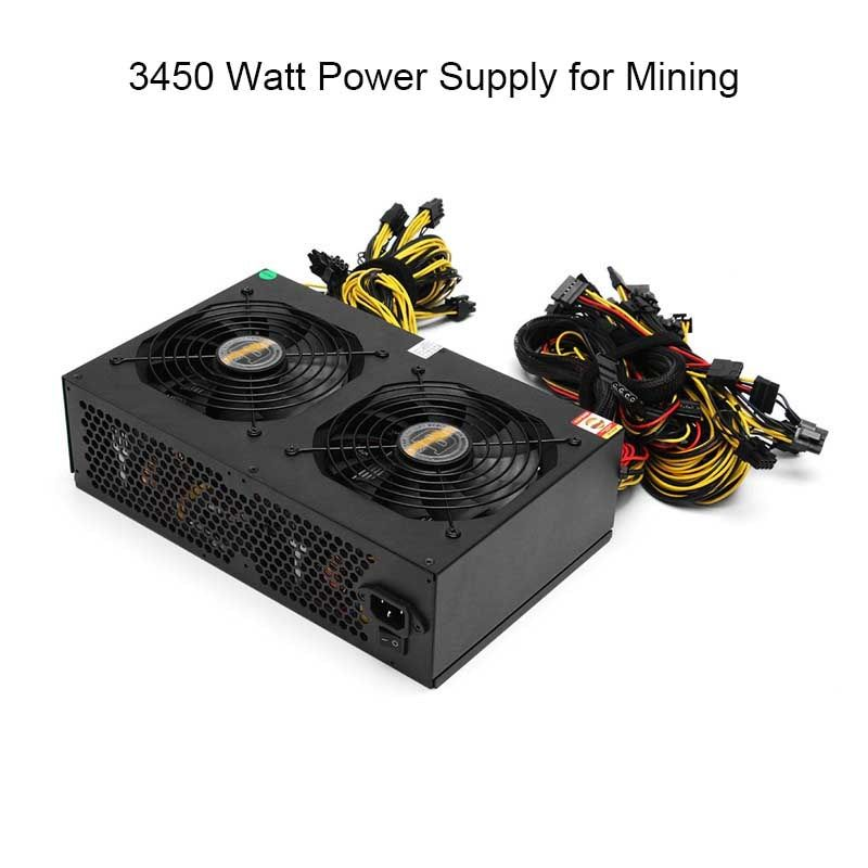 NEW 80 PLUS Gold 3000W ATX PC Miner Power Supply Machine 24 Graphics Interface For BTC Bitcoin Mining Server